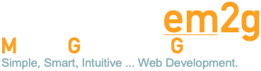 Media Graphics Group em2g Simple, Smart, Intuitive ... Web Development logo
